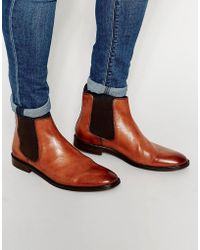 Dune Chelsea Boot In Tan Leather - Brown