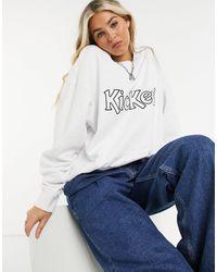 Kickers Oversized Sweatshirt With Front Logo - White