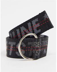 Sixth June Cintura slim con logo nera - Nero