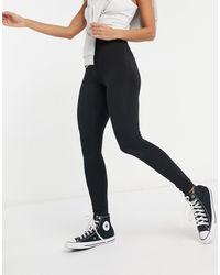 New Look Черные Леггинсы С Завышенной Талией -черный Цвет