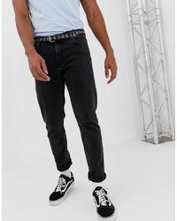 Weekday Sunday - Jeans comodi affusolati nero Tuned