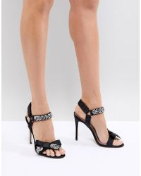 ALDO - Two Part Heeled Sandal With Embellishment And Bow Detail - Lyst