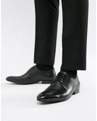 Dune - Saffiano Shoes In Black Leather - Lyst