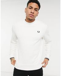 Fred Perry Crew Neck Sweatshirt - White