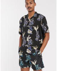 Carhartt WIP Overhemd Met Hawaïaanse Bloemenprint - Zwart