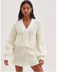 4th & Reckless - Knitted Volume Sleeve Cardi Co Ord - Lyst