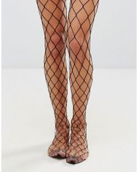 New Look - Large Scale Fishnet Tights - Lyst
