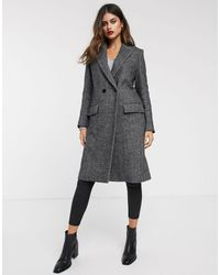 Mango Straight Coat - Grey
