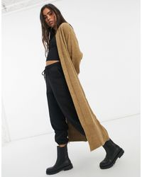 Y.A.S Maxi Knitted Cardigan - Natural