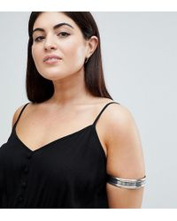 ASOS - Asos Design Curve Thick Burnished Arm Cuff - Lyst