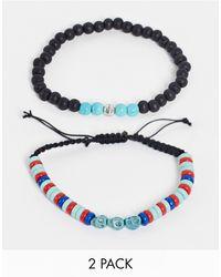 Classics 77 2-pack Bead Bracelet - Blue