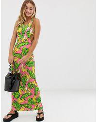 Love Moschino Платье Макси С Принтом Бананов - Многоцветный