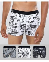 Only & Sons - 3 Pack Trunks In Graffiti Print - Lyst