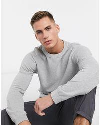 Jack & Jones Premium - Maglione lavorato testurizzato - Grigio