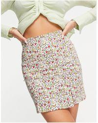 TOPSHOP Ditsy Bengaline Mini Pelmet Skirt - Multicolor