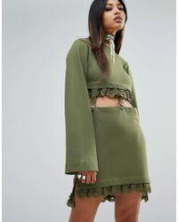 PUMA - X Fenty Kimono Sleeve Suspender Dress - Lyst