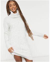 Pimkie Roll Neck Jumper Dress - Grey