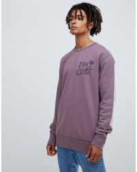 WOOD WOOD - Fan Club Sweatshirt In Purple - Lyst