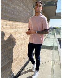 TOPMAN Oversized T-shirt - Pink
