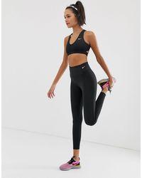 Nike Черные Леггинсы Sculpt-черный