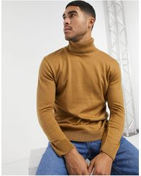 River Island Roll Neck Sweater - Brown