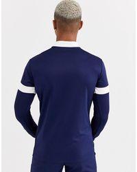 PUMA Football 1/4 Zip Sweat - Blue