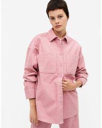 Monki Conny-li Cord Shirt - Pink