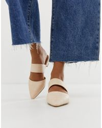 Park Lane - Woven Pointed Mules - Lyst