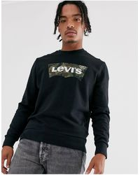 Levi's Свитшот С Круглым Вырезом И Логотипом -черный