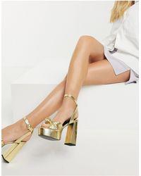 ASOS Neptune Platform High-heeled Sandals - Metallic