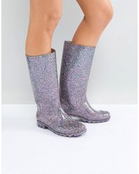 ASOS Asos Gransta Glitter Wellies - Multicolour