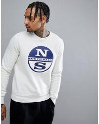 North Sails - Lowell Logo Sweatshirt In White - Lyst
