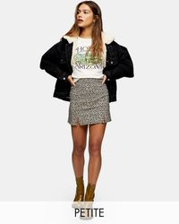 Topshop Unique Bengaline Mini Skirt - Multicolour
