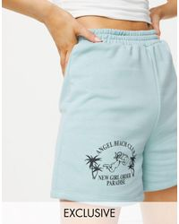 New Girl Order Exclusive Angel Beach Oversized Beach Short Co-ord - Green