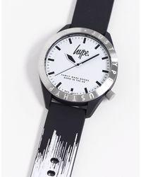 Hype Черно-белые Часы -черный