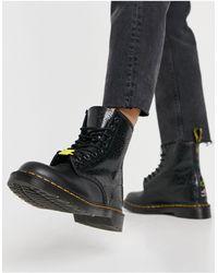 Dr. Martens - Черные Ботинки Keith Haring 1460-черный Цвет - Lyst