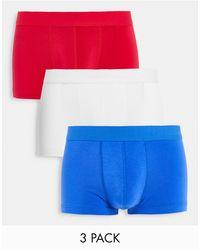 ASOS Набор Из 3 Коротких Боксеров-брифов Ярких Цветов - Многоцветный