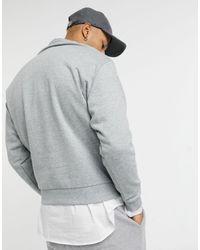 ASOS Oversized Sweatshirt With Small Vintage Chicago Print - Grey