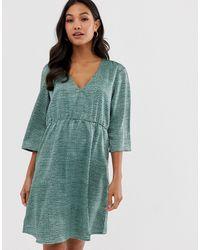 Vila - Textured Smock Dress - Lyst