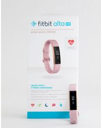 Fitbit - Alta Hr Activity Tracker In Rose Gold - Lyst
