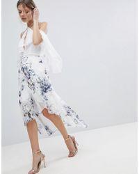 Coast - Amber Floral Printed Asymmetric Hem Skirt - Lyst