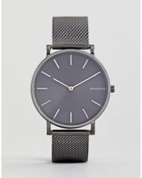 Skagen - Skw6445 Hagen Slim Mesh Watch In Gunmetal 38mm - Lyst