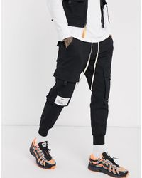 The Couture Club Utility Cargo Pant - Black
