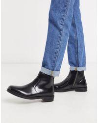 ASOS Черные Кожаные Ботинки Челси - Черный