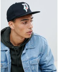Primitive - Skateboarding Rose Logo Unstructured Snapback In Black - Lyst