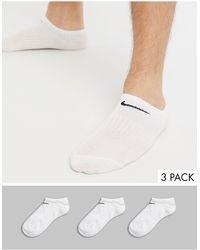 Nike Pack de 3 pares de calcetines blancos de