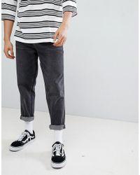 ASOS - Asos Skater Jeans In Vintage Washed Black - Lyst