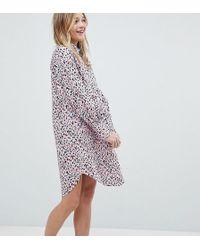 Monki - Smudge Print Shirt Dress - Lyst