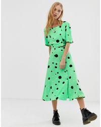 Reclaimed (vintage) Falda midi - Verde