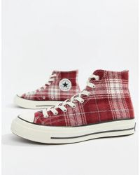 501d9bd99501 Converse - Chuck Taylor All Star  70 Hi Trainers In Burgundy 162403c - Lyst